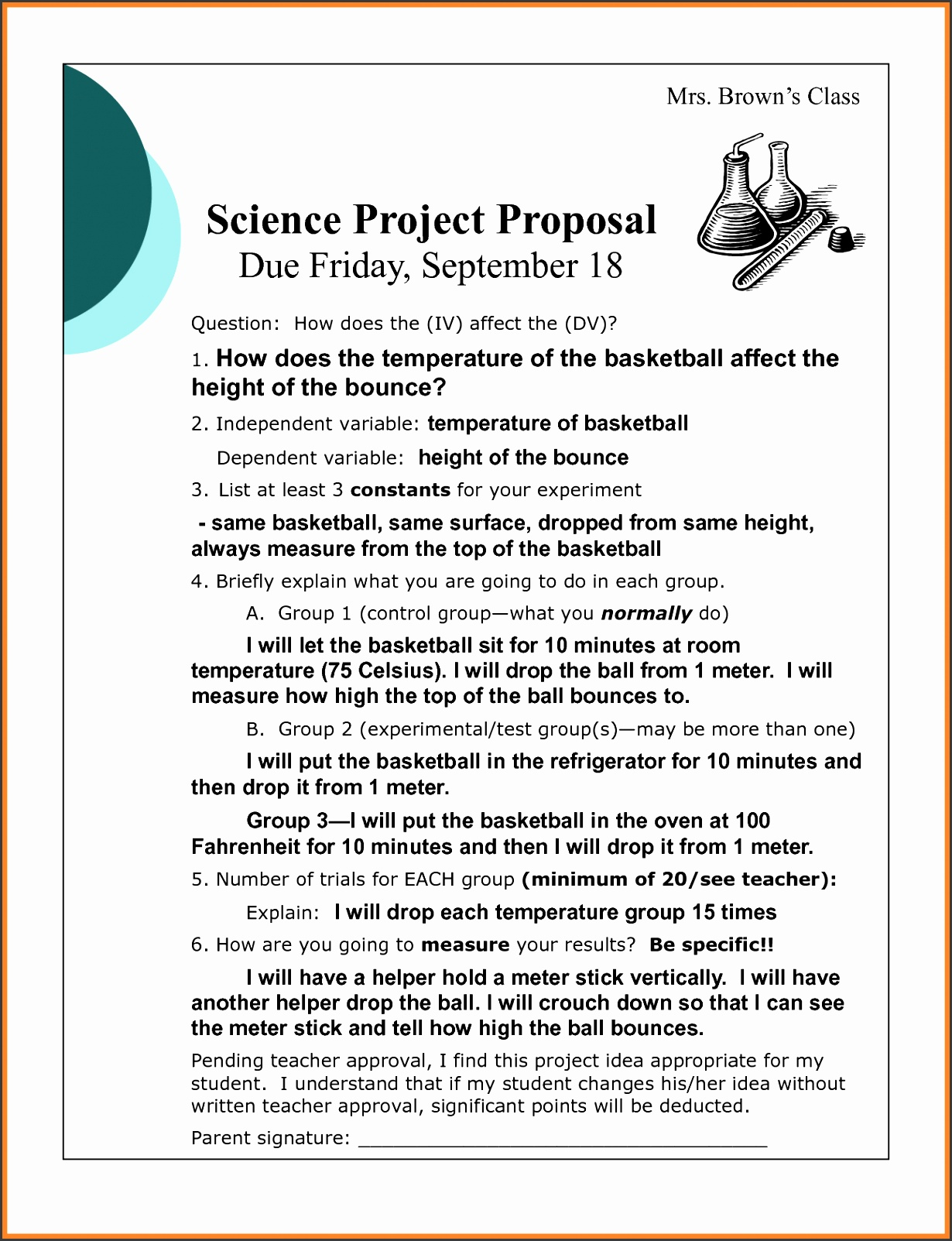 Proposal format Beautiful 6 Example Project Proposal format