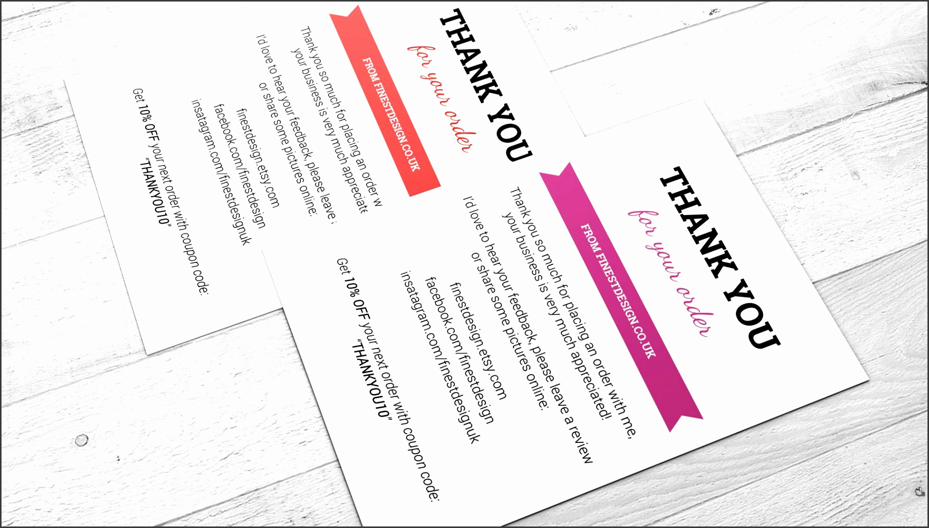 Modern Business Cards Order Thank You Ribbon For Your Electronic Birthday Templates Card Awesome Illustrator Red