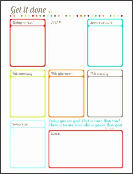 blank calendar worksheet to do