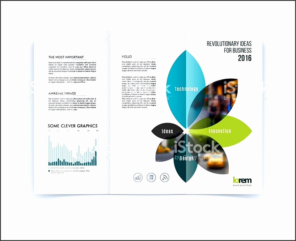 Tri fold Brochure template layout cover design flyer in A4 royalty free