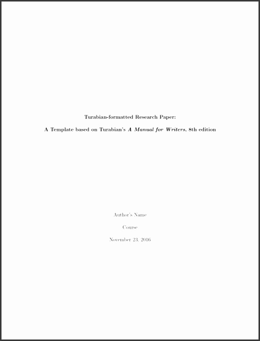 Turabian research paper