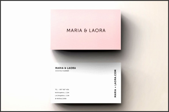 Pink Modern Blank Business Card Template Customizable Download
