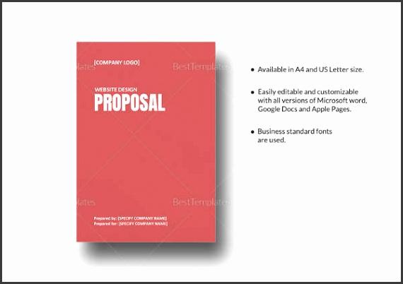 Website Design Proposal Template in Word