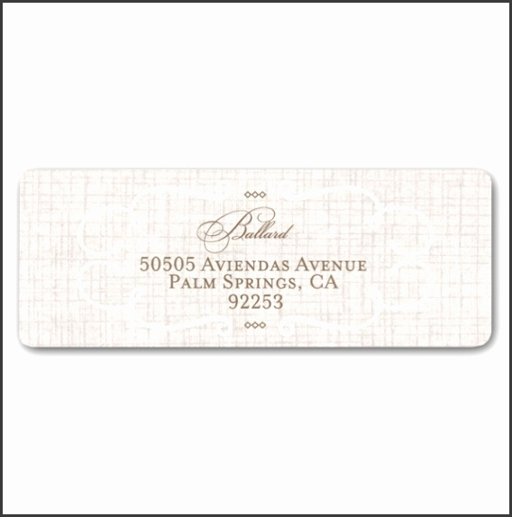 6 Wedding Address Label Template Download