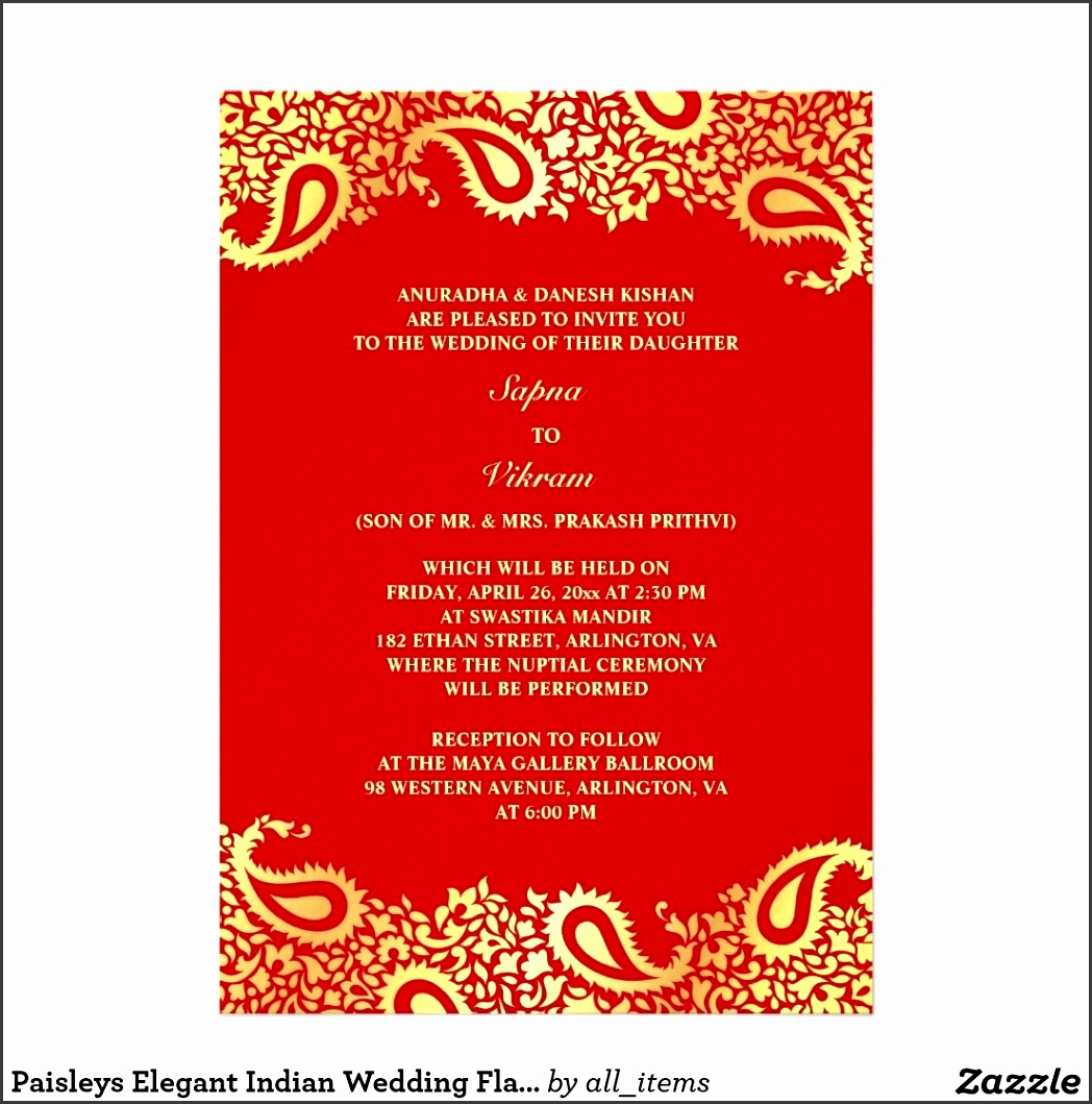 Indian Wedding Invitation Indian Wedding Invitation With in Indian Wedding Card Template 4792