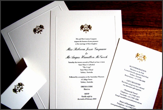 Formal White Wedding Invitation With Elegant Letters