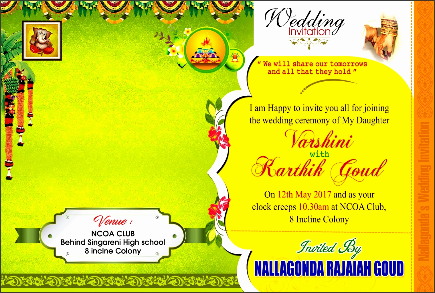 indian wedding card invitation card psd vector template free s