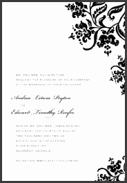 A7 Printable Invitation · Colonial Stencil Wedding Invitations · A7 Microsoft Word Template