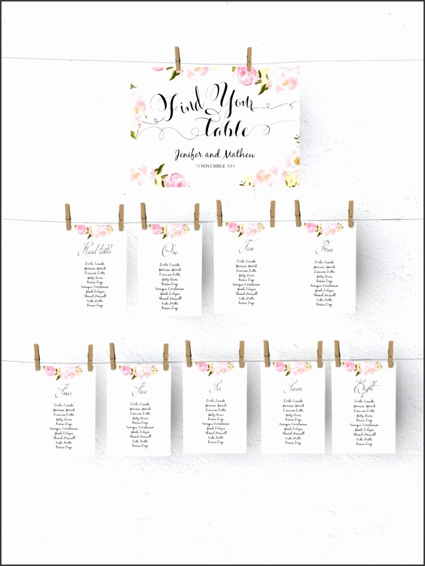 Printable Seating Chart Template wedding table plan
