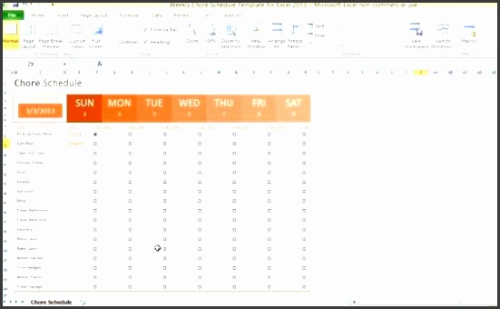 Weekly Chore Chart Template  Sampletemplatess  Sampletemplatess