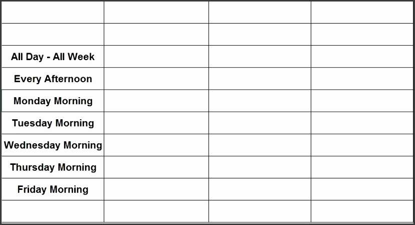 Here is a Download Link of This Free Weekly Chore List Template