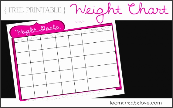 weekly weight loss chart template free