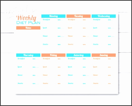 meal planner for weight loss template