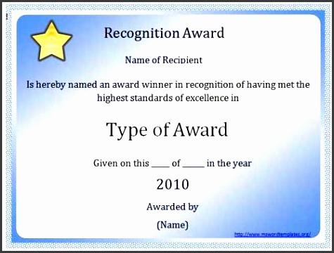 5 Word Award Templates Sampletemplatess Sampletemplatess