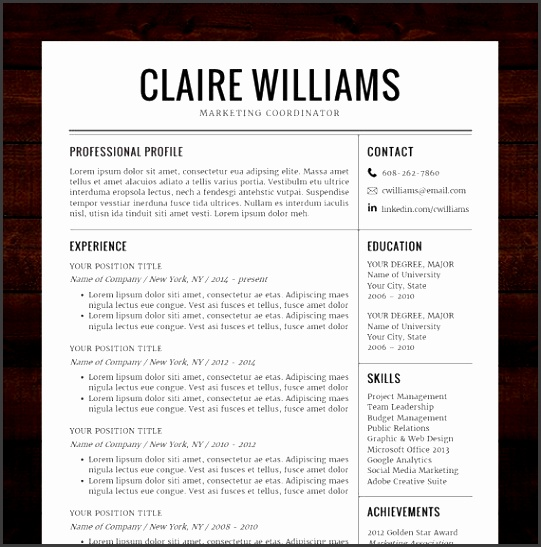 Microsoft Word Resume Template Download Fresh Charming Resume Templates Download Free Word for Your Free Word