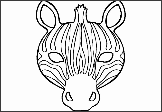 Zebra Mask Template