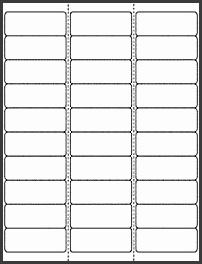 Standard Address Label Template Item x 30 Labels Per Sheet