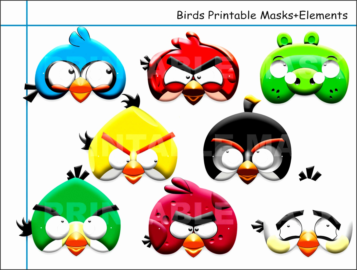 Masks clipart angry bird 5