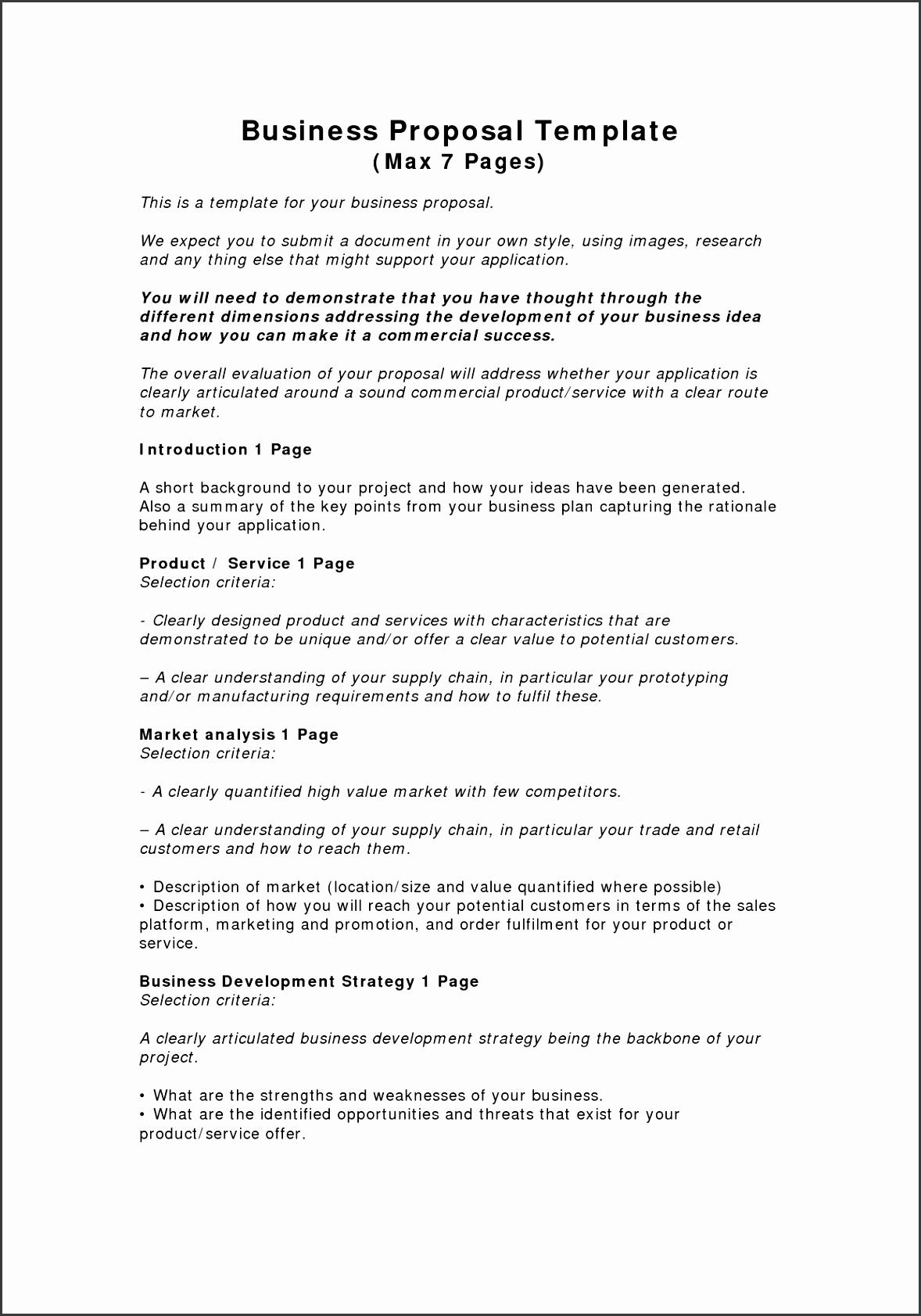 Business Plan Proposal Template Inspirational Business Proposal Templates Examples Business