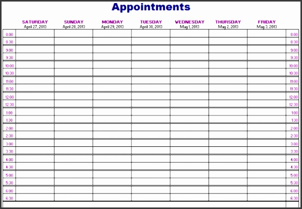 Salon appointment book template final Salon Appointment Book Template pliant Icon Appointments Schedule with medium image