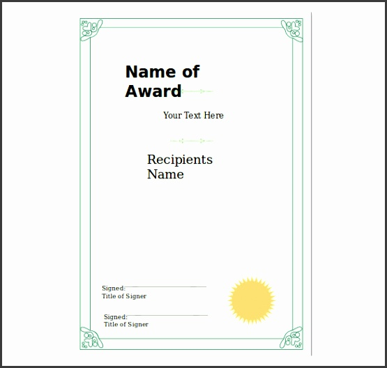 certificate templates powerpoint 8 powerpoint certificate template free sample example format printable