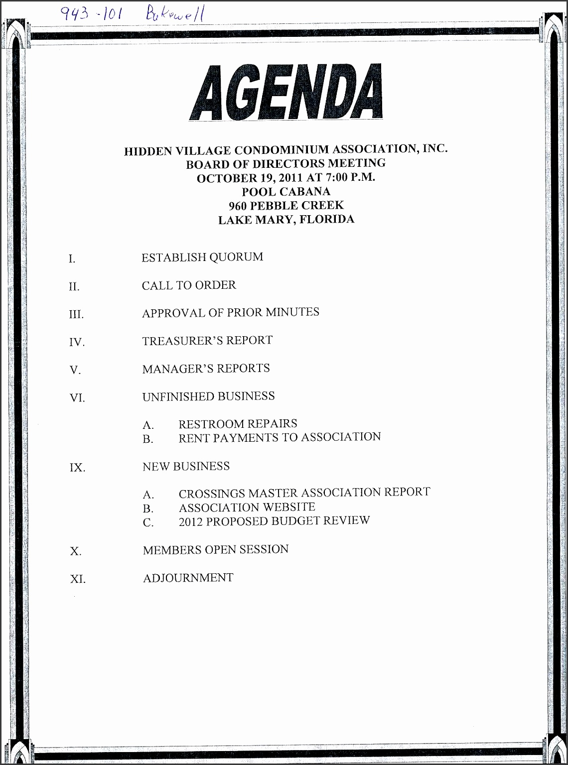 8 basic meeting agenda template