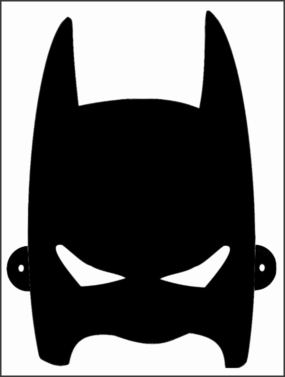 It is a picture of Stupendous Batman Mask Printable