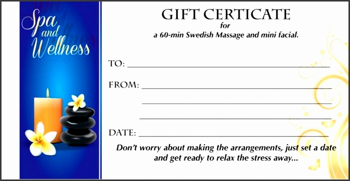 Permalink to Spa Gift Certificate Template