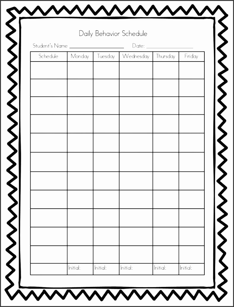 Behavior Charts For Preschoolers Template Choice Image Templates Behavior Log Template Elegant Daily Behavior Chart Template
