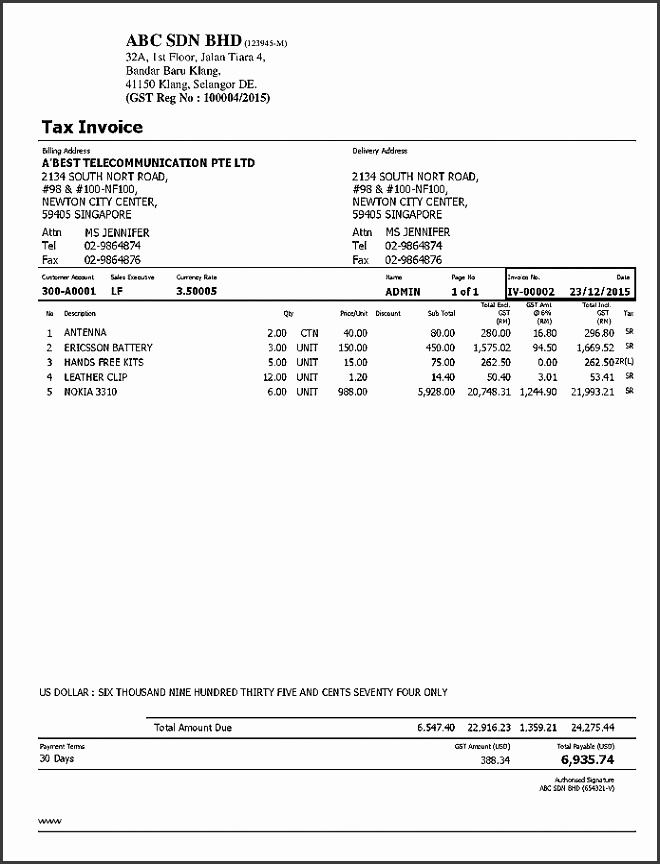 Professional Invoices Template Best Tax Invoice Template Sample Example Malaysia Australia