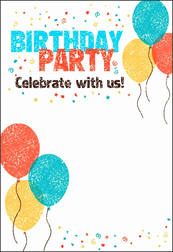 Birthday Card Invites Templates Best 25 Printable Birthday Invitations Ideas Pinterest Free