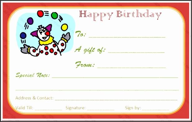 Fun Voucher Template Fun Day Birthday Gift Certificate Template Gift Certificates