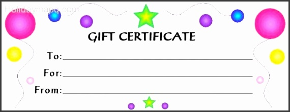 Templates for Gift Certificates Inspirational Sample Birthday Gift Certificate Template Gift Card Template Free
