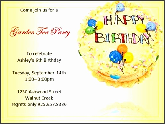 Best Word invitation Template birthday party invitation 6