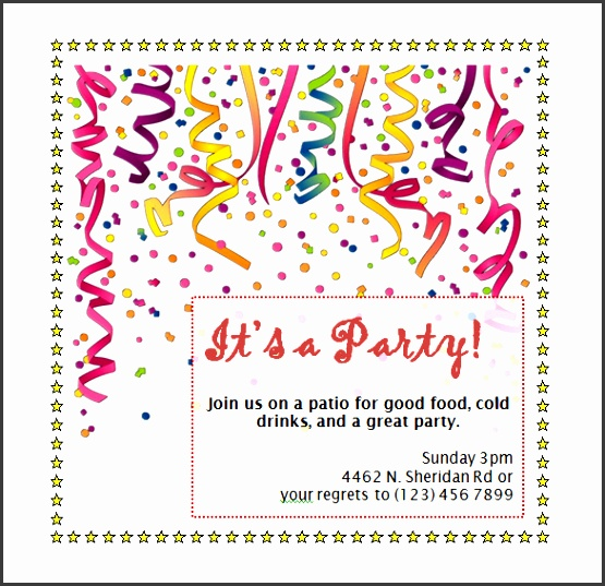 Birthday Party Invitation Template Word Free Invitation Templates Word Party Invitations Wonderful Party