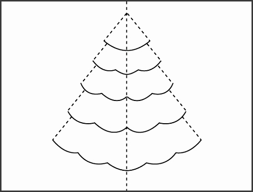 christmas card outline