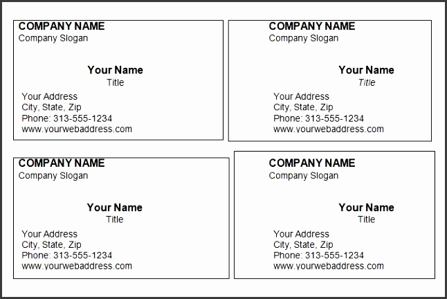 Blank Business Card Template Word Word Business Card Template Madinbelgrade Printable