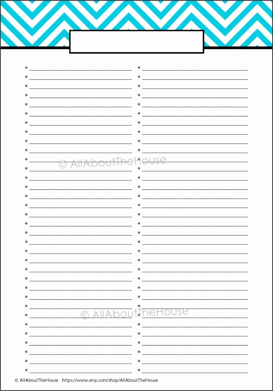 10 blank checklist template - sampletemplatess