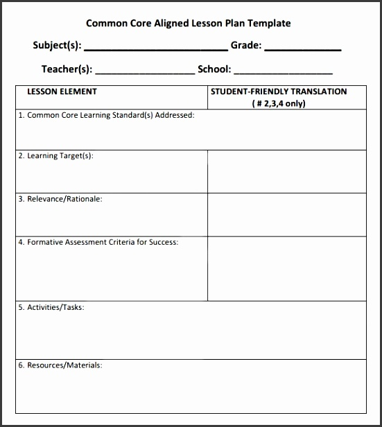 mon core lesson plan template 6 documents in pdf with regard to mon core lesson plan template