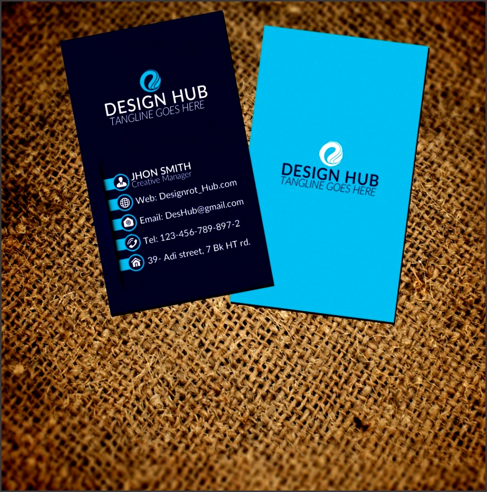 8 Business Card Size Template Psd