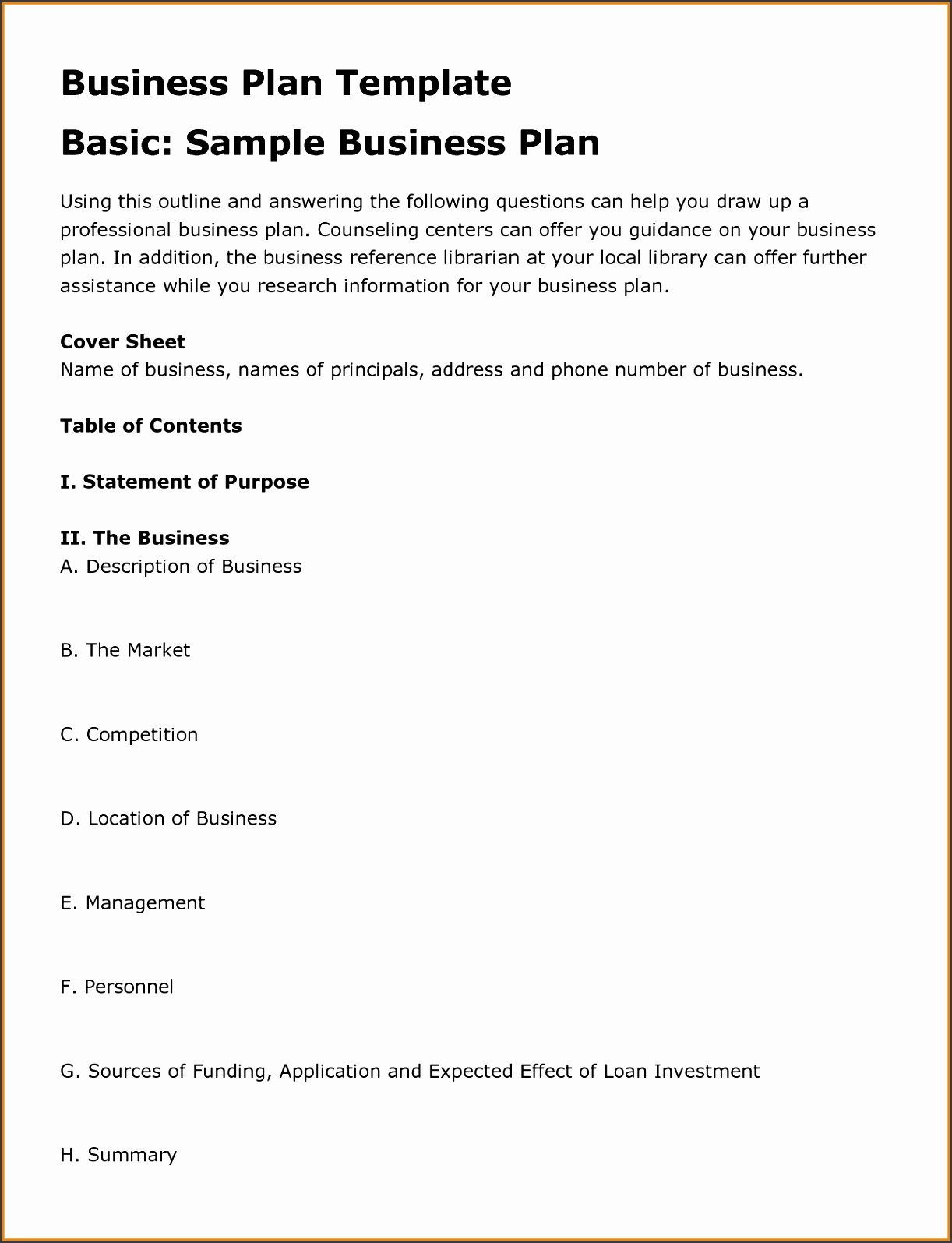 Example Business Plan Proposal Template Funding Sample Requirements Request 1366