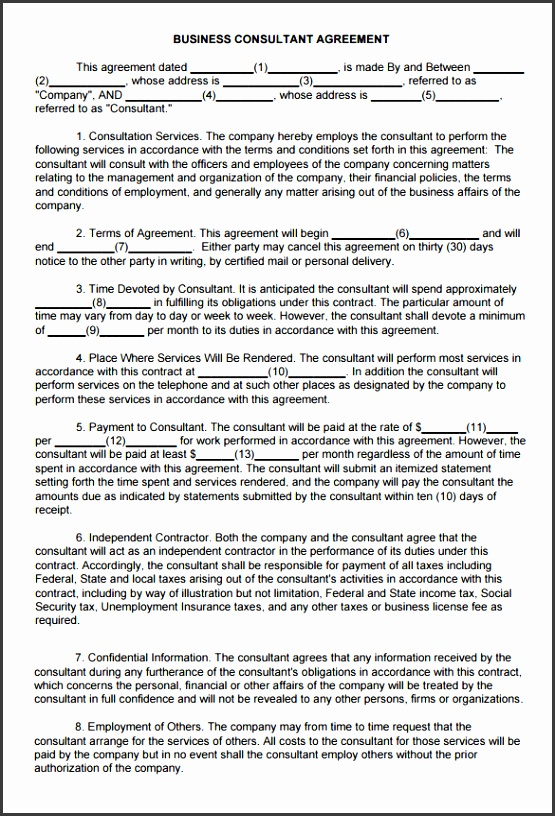 business consulting agreement template 5 consulting contract templates free word pdf documents