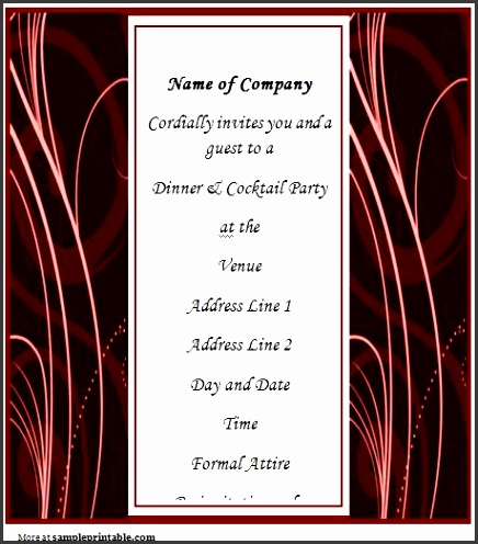 Business Dinner Invitation Template Word 459 x 517