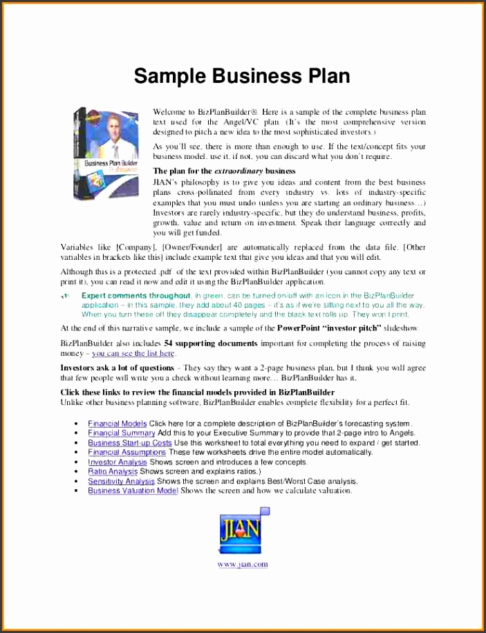 Example Business Plan Proposal Proposal Template