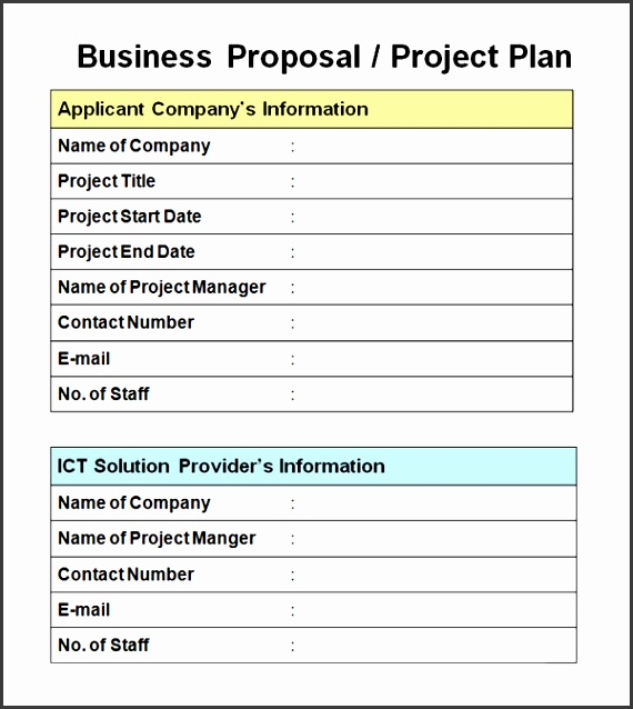 Business & Project Proposal Template