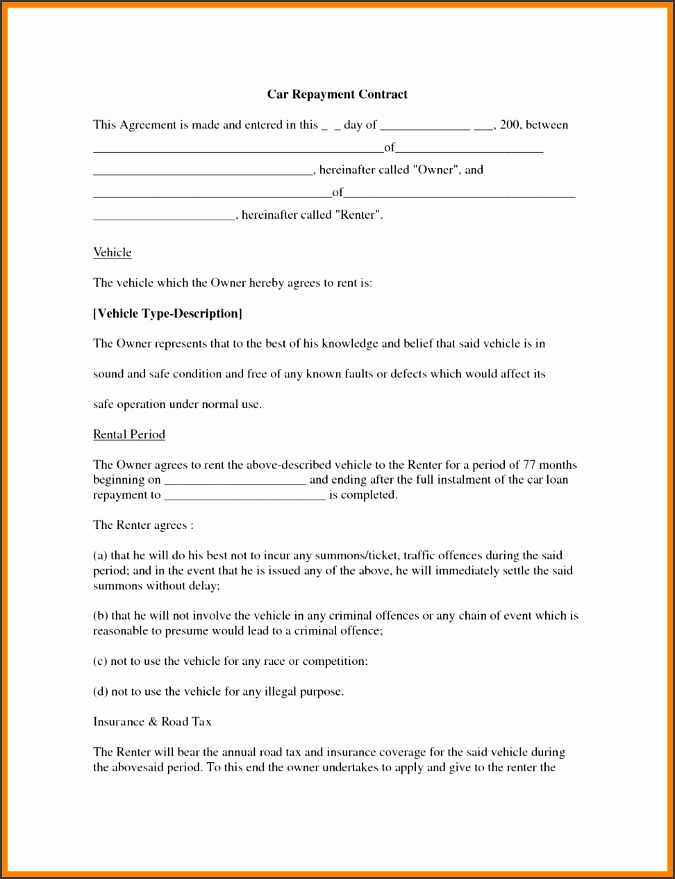 Sample Friendly Loan Agreement Free Malaysia Format Letter Template Between Two Parties 6 Business