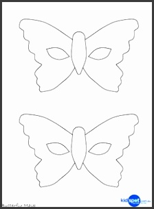 Butterfly mask template or coloring