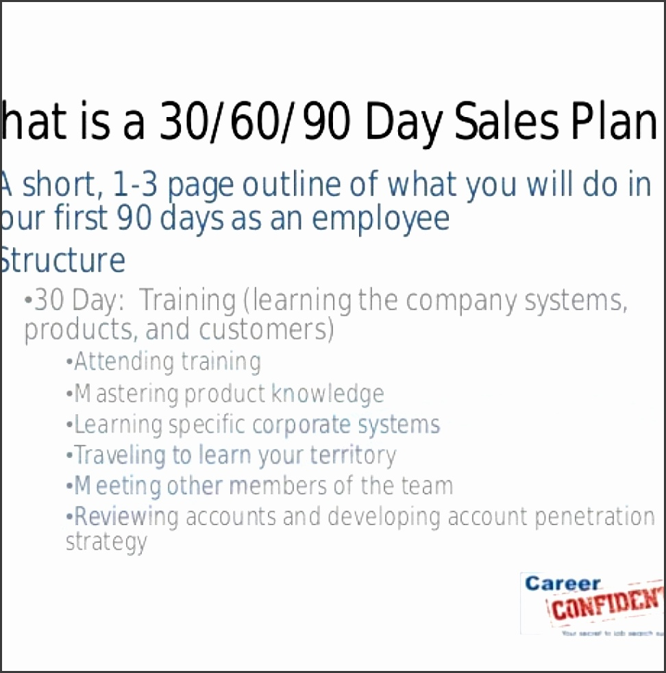 20 30 60 90 Day Action Plan Template – Free Sample Example intended for