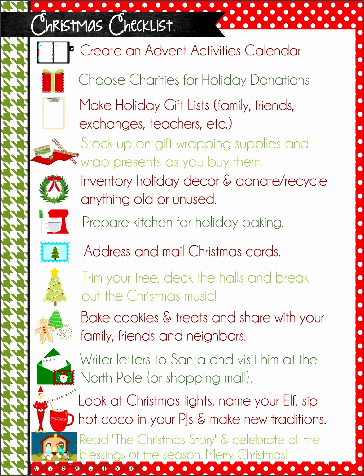 christmas list templates printable