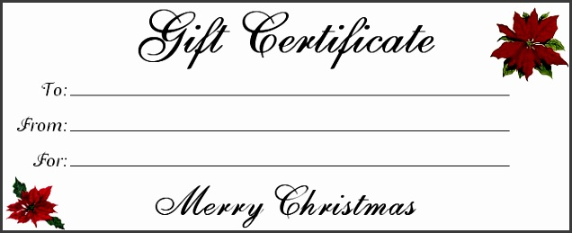Christmas Gift Certificate Templates Holiday Certificate Template Holiday Gift Certificate Templates Free